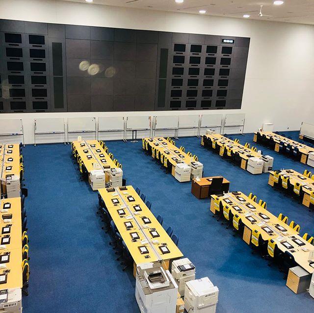 シン・ゴジラの撮影で使われた防災本部東京が地震で大変になったらここに本物の対策本部がつくられます。